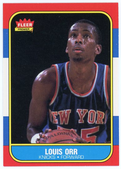 1986-87 Fleer #83 Louis Orr
