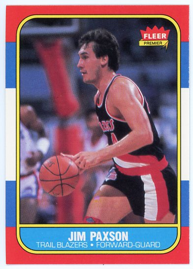 1986-87 Fleer #85 Jim Paxson
