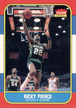 1986-87 Fleer #87 Ricky Pierce RC