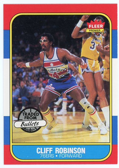 1986-87 Fleer #93 Cliff Robinson