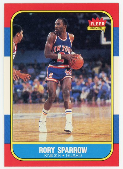 1986-87 Fleer #105 Rory Sparrow