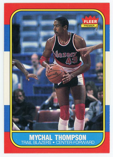 1986-87 Fleer #111 Mychal Thompson
