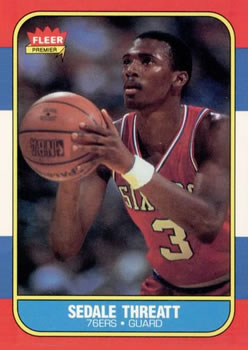 1986-87 Fleer #112 Sedale Threatt RC