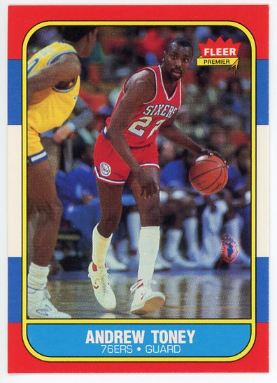 1986-87 Fleer #114 Andrew Toney