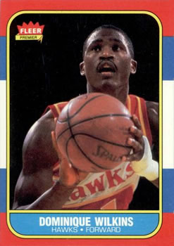 1986-87 Fleer #121 Dominique Wilkins RC