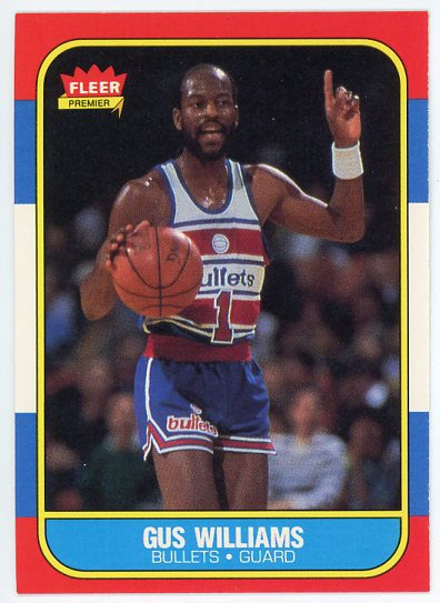 1986-87 Fleer #124 Gus Williams