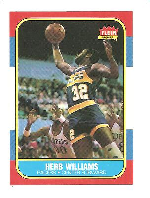 1986-87 Fleer #125 Herb Williams RC