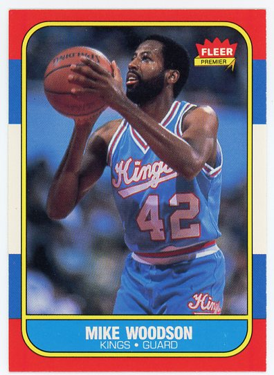 1986-87 Fleer #129 Mike Woodson