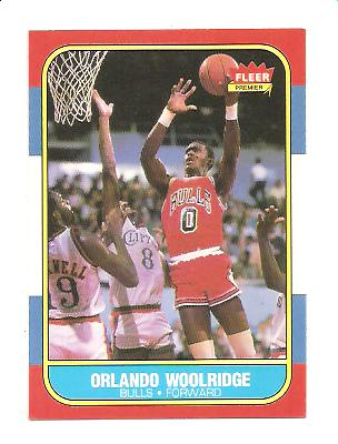 1986-87 Fleer #130 Orlando Woolridge RC