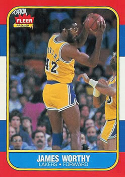 1986-87 Fleer #131 James Worthy RC