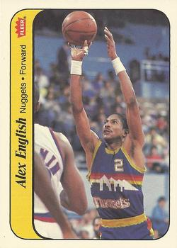 1986-87 Fleer Stickers #4 Alex English