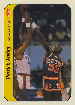 1986-87 Fleer Stickers #6 Patrick Ewing
