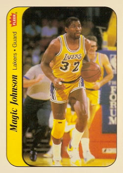 1986-87 Fleer Stickers #7 Magic Johnson