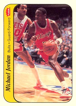 1986-87 Fleer Stickers #8 Michael Jordan