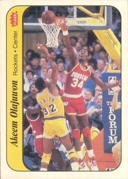 1986-87 Fleer Stickers #9 Hakeem Olajuwon