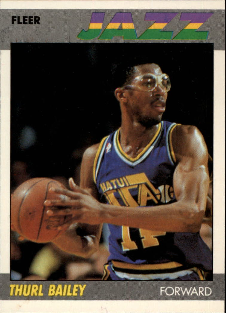 1987-88 Fleer #6 Thurl Bailey UER/(reverse negative)