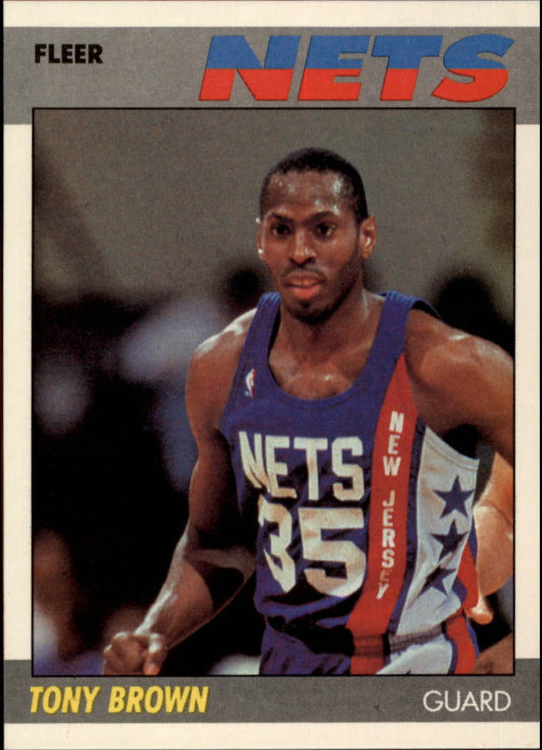 1987-88 Fleer #14 Tony Brown