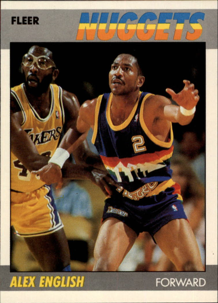 1987-88 Fleer #34 Alex English