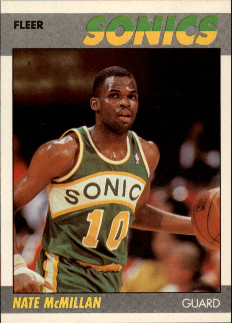 1987-88 Fleer #75 Nate McMillan RC