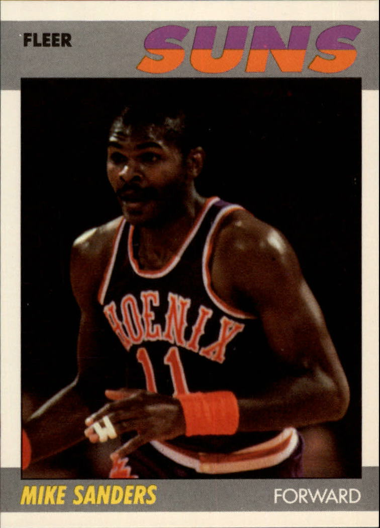 1987-88 Fleer #96 Mike Sanders RC