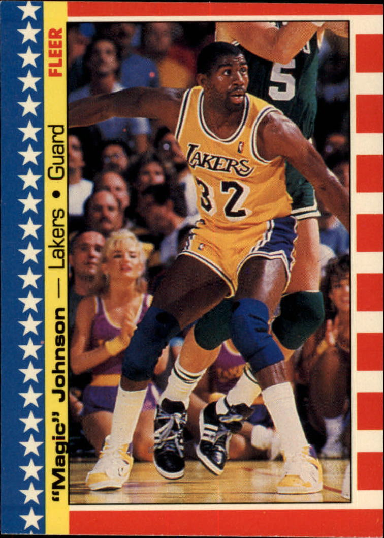 1987-88 Fleer Stickers #1 Magic Johnson