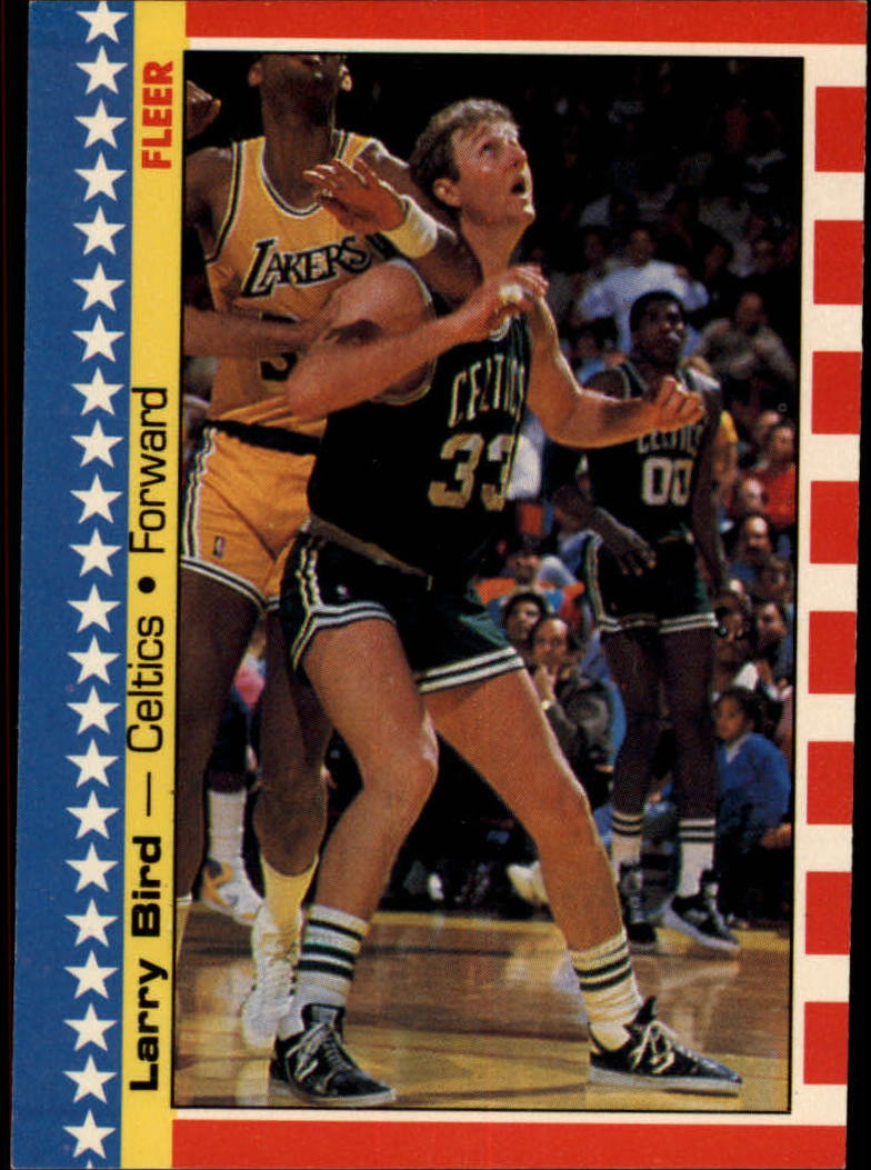 1987-88 Fleer Stickers #4 Larry Bird