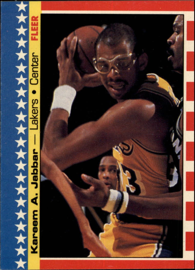 1987-88 Fleer Stickers #8 Kareem Abdul-Jabbar