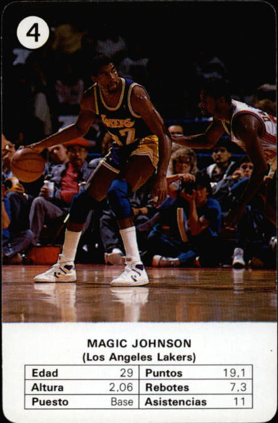 1988 Fournier NBA Estrellas #4 Magic Johnson