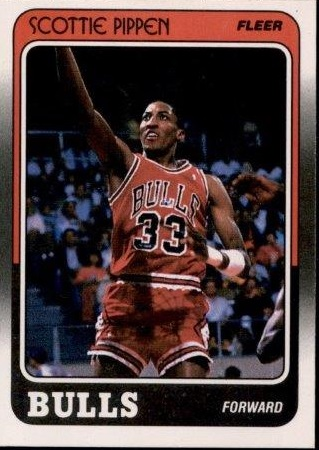 1988-89 Fleer #20 Scottie Pippen UER RC/(Misspelled Pippin on card back)