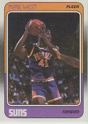 1988-89 Fleer #91 Mark West RC