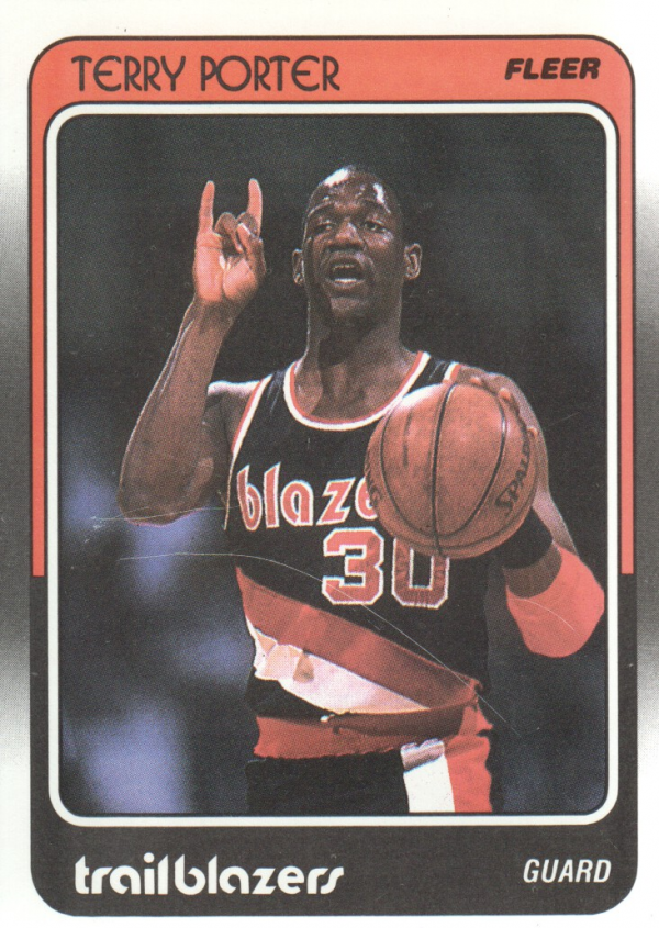 1988-89 Fleer #96 Terry Porter/(College Wisconsin,/should be Wisconsin-Stevens Point)
