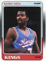 1988-89 Fleer #100 Kenny Smith RC/(College NC State,/should be North Carolina)