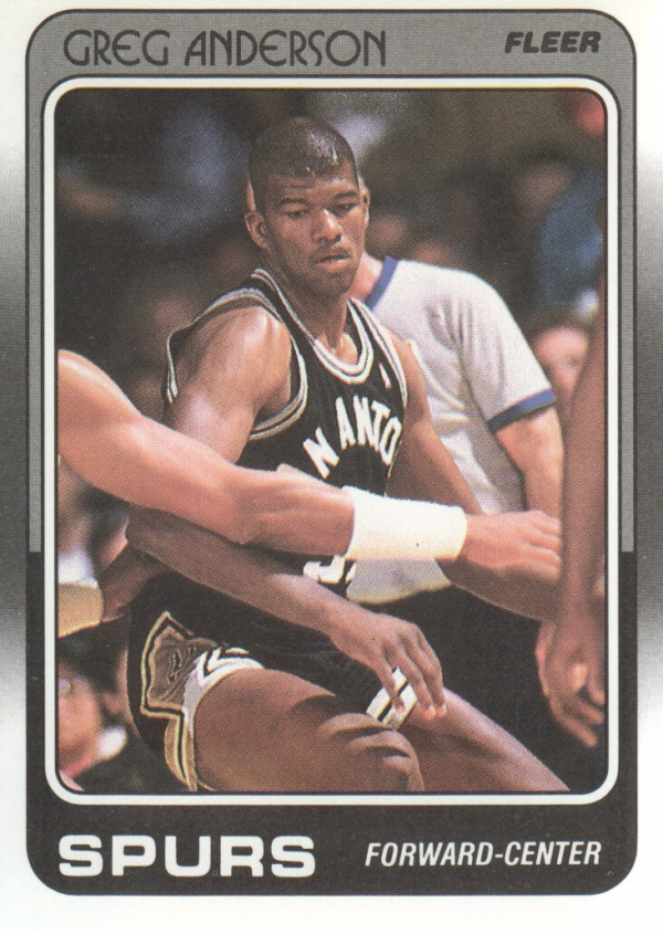 1988-89 Fleer #101 Greg Anderson RC