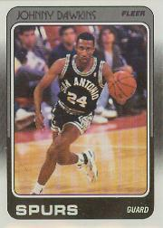 1988-89 Fleer #104 Johnny Dawkins