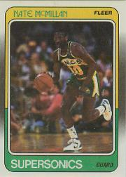 1988-89 Fleer #110 Nate McMillan UER/(Photo actually Kevin Williams)