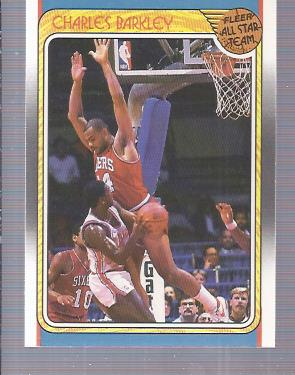 1988-89 Fleer #129 Charles Barkley AS/(Back says Buck Williams/is member of Jets, should be Nets)