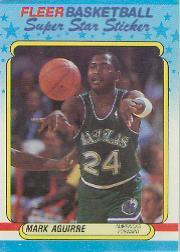 1988-89 Fleer Stickers #1 Mark Aguirre