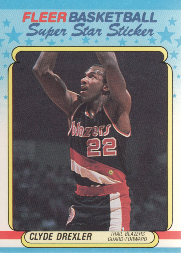 1988-89 Fleer Stickers #3 Clyde Drexler