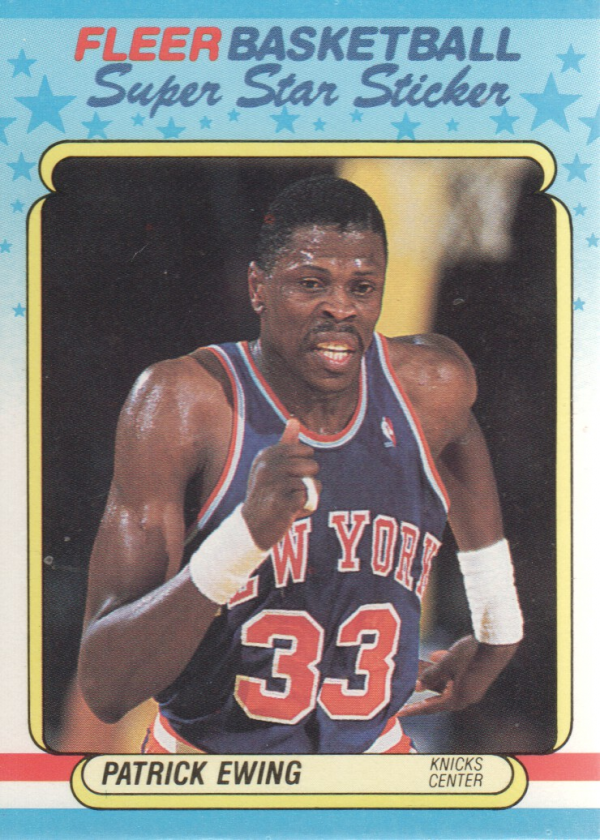 1988-89 Fleer Stickers #5 Patrick Ewing