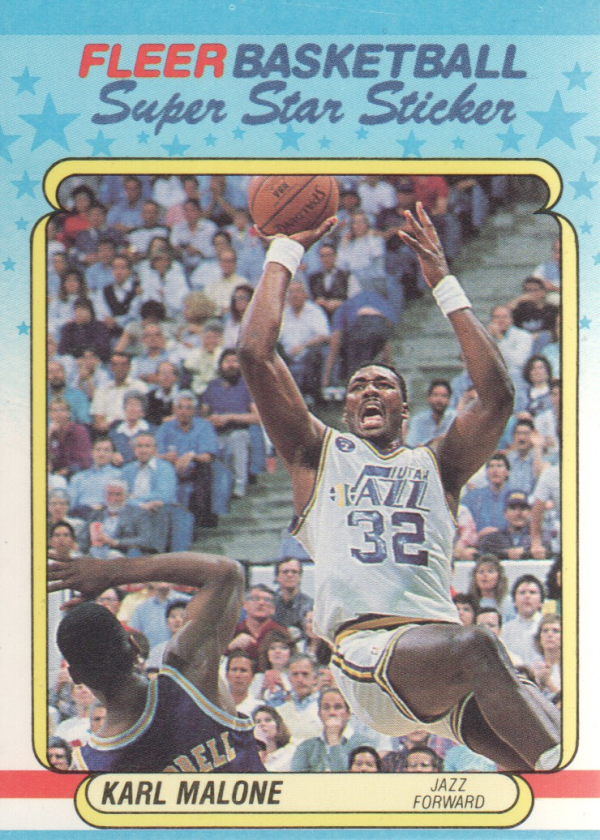 1988-89 Fleer Stickers #8 Karl Malone