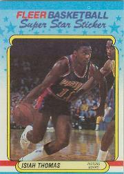 1988-89 Fleer Stickers #10 Isiah Thomas
