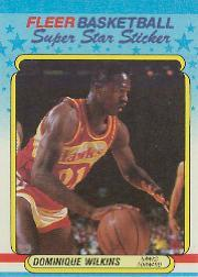 1988-89 Fleer Stickers #11 Dominique Wilkins