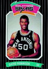 1988-89 Spurs Police/Diamond Shamrock #8 David Robinson 50