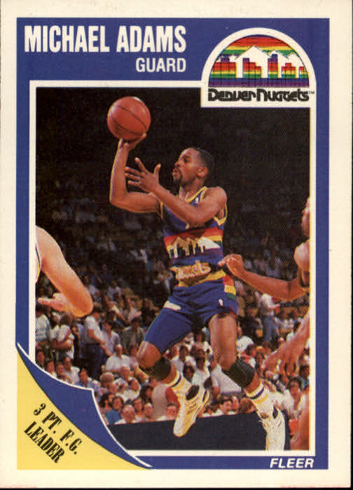 1989-90 Fleer #38 Michael Adams