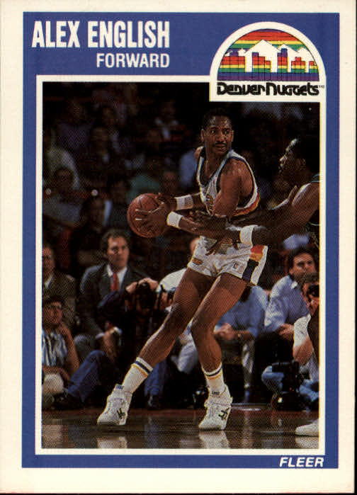 1989-90 Fleer #40 Alex English