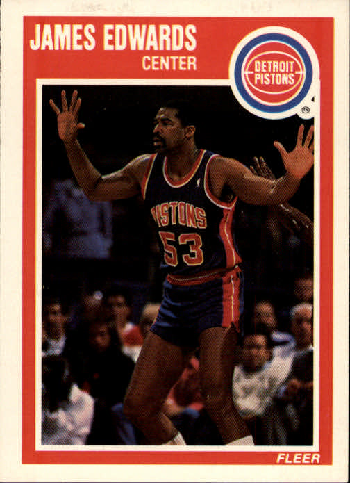 1989-90 Fleer #46 James Edwards