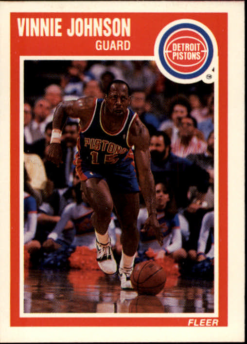 1989-90 Fleer #47 Vinnie Johnson