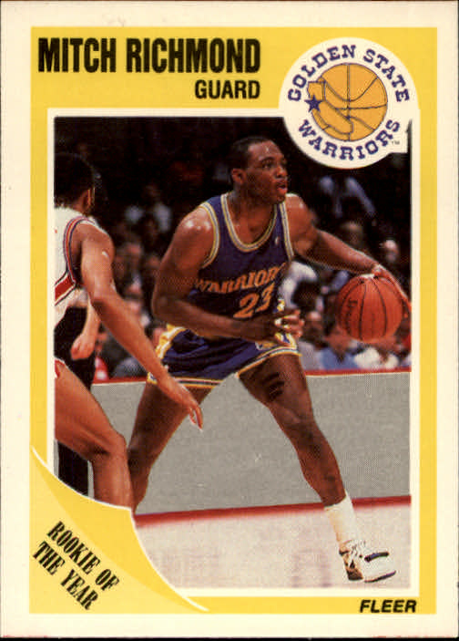 1989-90 Fleer #56 Mitch Richmond RC