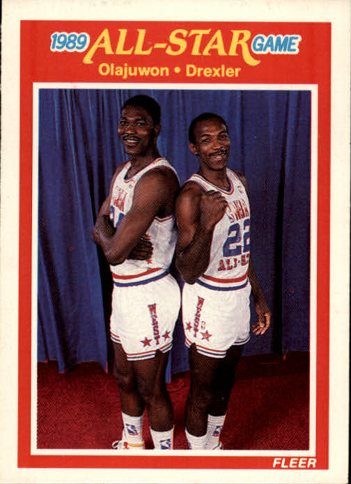 1989-90 Fleer #164 H.Olajuwon/C.Drexler AS