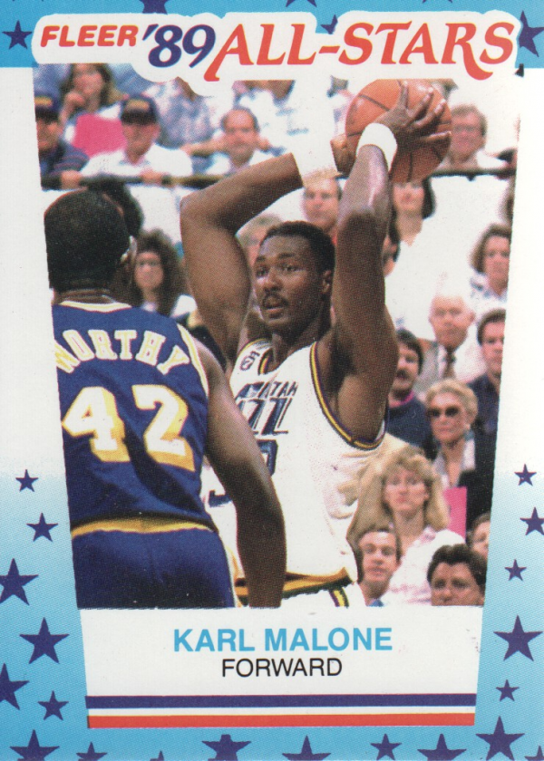 1989-90 Fleer Stickers #1 Karl Malone